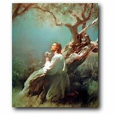 Jesus Christ Praying At Gethsemane Picture Art Print Poster (16x20) Catholic