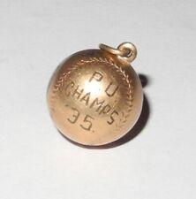 RARE 1935 Baseball PU School Champions Pendant Pin Coin Token Medal Charm