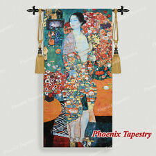 """Gustav Klimt """"The Dancer"""" Fine Art Tapestry Wall Hanging, 27""""x55"""", UK"""