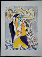 """Superbe Lithographie de Pablo PICASSO """" Femme au Chapeau """""""