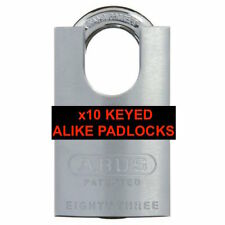 ABUS 83CS/50 Security Padlock 83CS50NKD Shackle Protector Brass Keyed To Differ