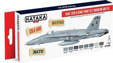 Hataka Hobby AS44 USAF, USN, & USMC Modern Greys Paint Set (8 Colors)