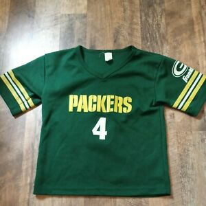 Youth Green Bay Packers Jersey Shirt #4 Favre size M Medium Franklin Football
