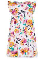 NAME IT Sommer Kleid Valaia weiß bunt geblümt Größe 128 bis 164