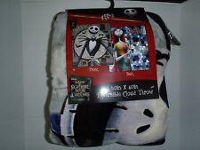 Nightmare Before Christmas Jack & Sally Reversible Disney  Very Plush Blanket