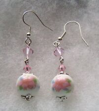 Ceramic Earrings Pink Lily