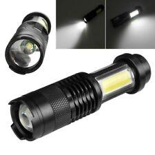 Mini Portable XPE +COB LED Flashlight 14500/AA 4 modes Torch Work Light Lamp