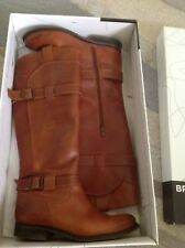 BRONX Boots In Tan Leather UK 4