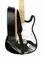 New Adjustable Genuine Leather Strap for Electric Acoustic Bass Guitar Black