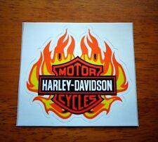 "HARLEY-DAVIDSON Classic Orange Bar & Shield Flame Outside Decal Stiker 3""x 2.8"""