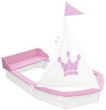 Sun Sandkasten Boot Princess Weiß-Rosa für Mädchen Sandkiste Holzsandkasten NEU