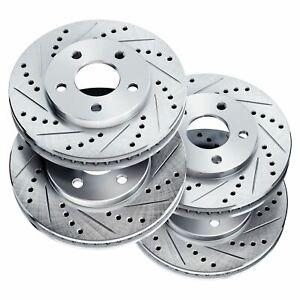 For 2009-2013 Infiniti FX50, M37, M56 Front Rear PSport Drill Slot Brake Rotors