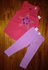 NWT Gymboree Girls Outfit Size 6 Tank Top Capri Pants 5-6 Knit Starfish School
