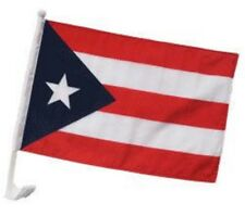 "(2 Pack) Puerto Rico Car Window Vehicle 12x18 12""x18"" Flag"