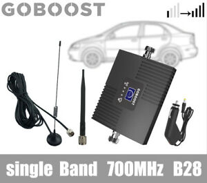 Cell Phone Signal Booster Single Band 700MHz B28 4G LTE Repeater Kit for Car Use