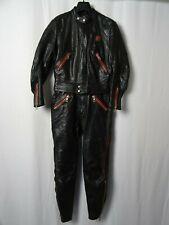 Men's Vintage 70's ERBO Dinamic 2 Piece Leather Motorcycle Race Suit 38R W30 L30