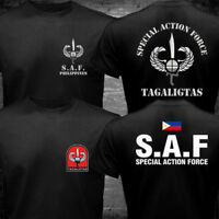 New Philippines Police SAF Special Action Force CTU Unit SWAT Military T-shirt