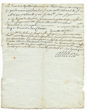 1796 french revolution justice manuscript letter with very nice signature and b