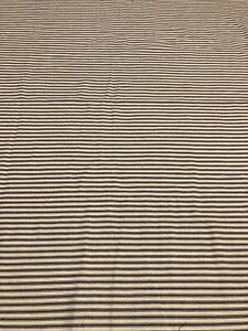 """Vintage Blue Striped Ticking Feed Sack Grain Bag Fabric Material 37"""" By 58"""""""