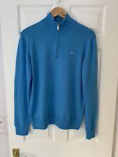 J Lindeberg Blue Mid Layer Jumper Medium Merino Wool