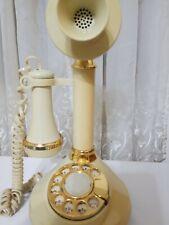 Vtg 1973 Rotary Candlestick Phone American Telecommunication/ Western Elect.