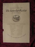 SATURDAY REVIEW May 18 1929 Hugh Walpole Louis Untermeyer W. B. Seabrook
