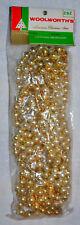 Vintage Woolworth'S Glass Bead Feather Tree, Christmas Tree Gold Garland Nip