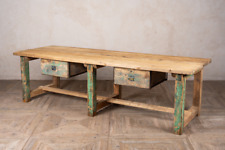 More details for industrial sideboard distressed green painted sideboard kitchen island
