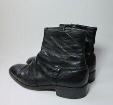 Neolite Vintage Mens Black Leather Zip Up Low Western Cowboy Boots Sz 8.5 D