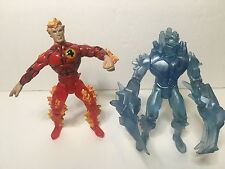 """Marvel Fire & Ice Human Torch & Ice Man 5""""in Figures"""