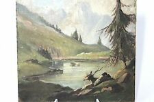 Franz Krauss Gemälde Gebirgssee 1947