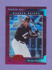 2001 Leaf Certified Materials Miror Red #30 Harold Baines /75!