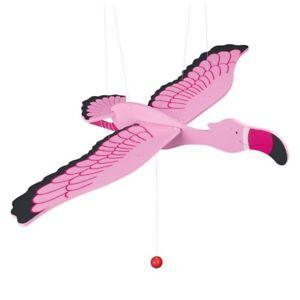 Vibrating Animal Wooden Swing Figure Flamingo Goki 52896 Span Width 19 11/16in