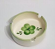 Aschenbecher grün Blume vintage altmodisch Keramik Ascher Landhaus shabby retro