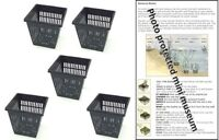 5 X 11cm square plastic aquatic pots baskets for water plants and pond & guide