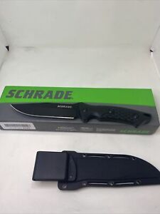 Schrade SCHF30 Tactical Black Fixed Full Tang Clip Point Knife + Sheath