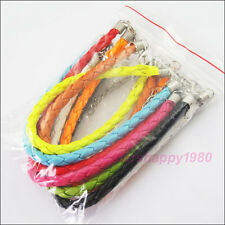 10 Lady Bangle Bracelet Wrist Cord Jewelry With Lobster Parrot Clasp Mixed 18cm