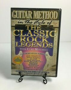 Guitar Method In The Style Of The Classic Rock Legends Curt Mitchell DVD SEALED