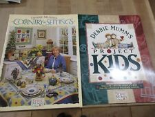 2 Debbie Mumm Quilting Craft Books Country Settings & Project Kids (ab)