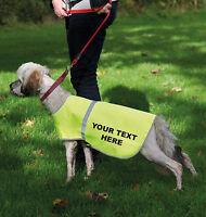 HIGH VIS DOG SAFETY VEST REFLECTIVE PET HI-VIS CUSTOM PRINT COAT PERSONALISED