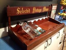 Vintage Top Shelf DISPLAY wooden WINE RACK
