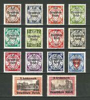 DR Nazi 3rd Reich Rare WWII WW2 Stamp Hitler's Danzig Overprint Deutsches Reich