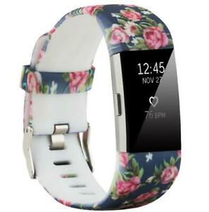 Pattern Bands for Fitbit Charge 2 Strap Secure Schnalle Replacement Wristband