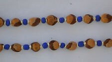 "32"" Blue/Silver Navajo Ghost/Cedar Beads Necklace. Juniper Berry by L. Bitsoie"