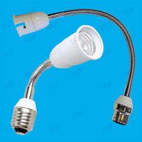 300mm B22 or 200mm E27 Flexible Light Bulb Lamp Socket Extender Adaptor Holder