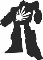 RISING SUN ROBOT CAR STICKER jdm decal transformer