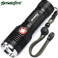 ZOOMABLE CREE XM-L2 U2 LED 3 Mode 26650/18650 USB Rechargeable Flashlight Torch