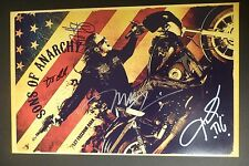 SONS OF ANARCHY Cast(x4) Authentic Hand-Signed 11x17 Photo (Ryan Hurst) PROOF