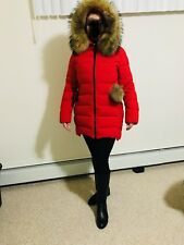 Women's Real Fur Hooded Jacket Size Medium/Large New with Tags