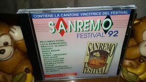 CD SANREMO FESTIVAL 1992  EMI RICCHI E POVERI,FASANO,FORTUNATO,SCIALPI